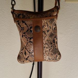 Fun Fashion Python Embroidered C Crossbody Bag